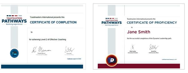 Certificados de Pathways